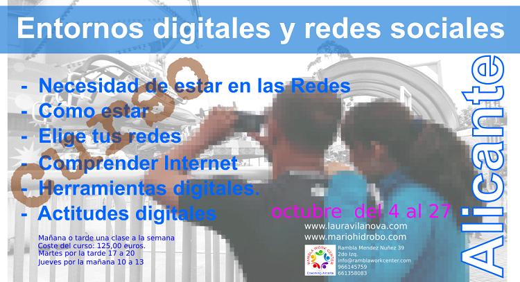 Curso Entornos digitales y Redes sociales octubre 750x400